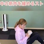呼吸を使った腰と背中の筋肉を緩める体幹ストレッチ
