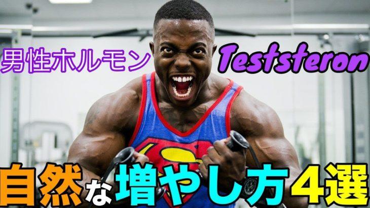 男性ホルモン、テストステロンを高めて筋肉をつきやすくする4つの習慣【筋トレ】