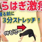 【3分脚やせ】ふくらはぎが細くなる激痩せストレッチ!筋肉太り・脂肪太り・むくみを解消!