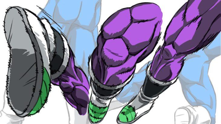 ドラゴンボールに学ぶ足の筋肉の描き方 How to draw leg muscles learned from Dragon Ball