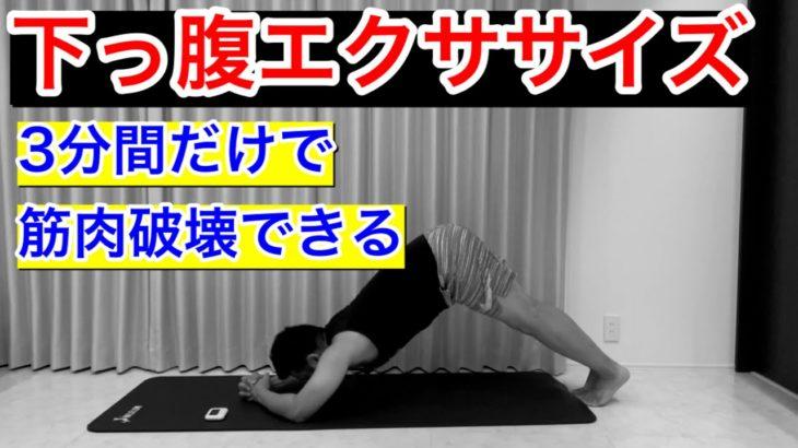 【3分で筋肉痛確定】下っ腹に効く腹筋トレーニング