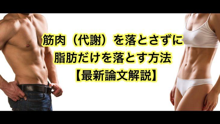 筋肉量(代謝)を落とさずに体重を落とすには〇〇をしよう!【英語論文を日本語で解説】