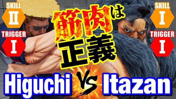 スト5 ひぐち(ガイル) vs 板ザン(ザンギエフ) 筋肉は正義 Higuchi(Guile) vs Itazan(Zangief) SFV
