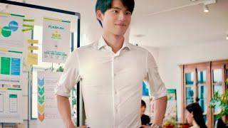 岡田健史が白シャツまぶしい筋肉美のビジネスマンに/明治「ザバス MILK PROTEIN」CM