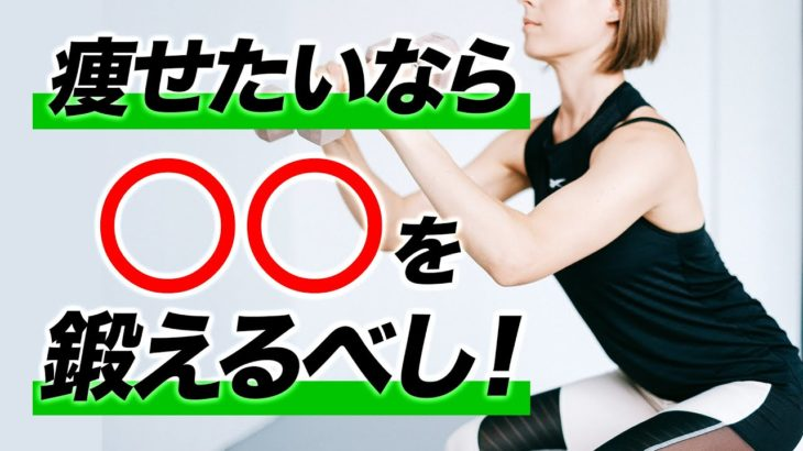 【ダイエット】痩せたい方が鍛えておきたい筋肉とおすすめ筋トレ種目【ビーレジェンド プロテイン】