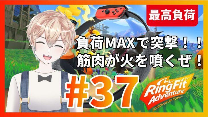 【リングフィットアドベンチャー】負荷MAXで突撃!!筋肉が火を噴くぜ!#37【新人Vtuber】