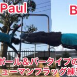 Paul&bar human flag lesson!筋肉痛気味だけど人間鯉のぼりやります🎏
