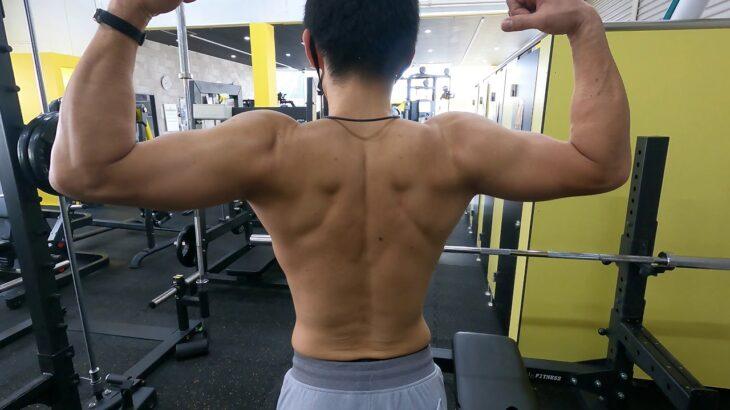 成長楽しみな筋肉です。肩幅があってセパレーションがあります