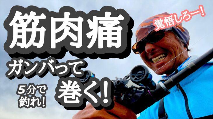 【5分で釣れ!2021.6.5】筋肉痛!頑張って巻く!【琵琶湖バス釣り】