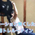 筋トレルーティーン 筋肉つけたかったけど自分に甘くて簡素化しました  マッチョになれる人を尊敬してます Muscle training routine
