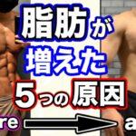 【要注意】筋肉が増えずに体脂肪が増えた5つの原因