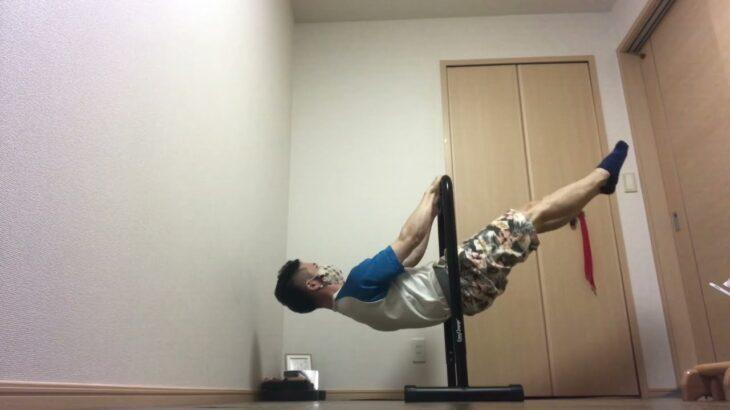 フロントレバー練習!翌日筋肉痛!広背筋、大円筋、上腕三頭筋に最高の刺激!