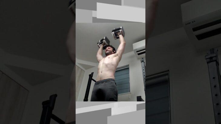 【ホームジム筋トレ】Dumbbell Cuban Press | 肩の筋肉と柔軟性を同時に鍛えるダンベルキューバンプレス