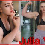 【筋肉女子】美人なルックスで半端ない筋肉の女性│Julia Vinsさん